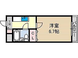 林泉第一ビル[5階]の間取り