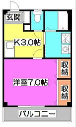 埼玉県所沢市大字南永井の賃貸マンションの間取り