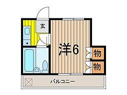 カテリーナ戸田公園II[4階]の間取り