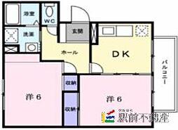 カーム権藤II[2階]の間取り