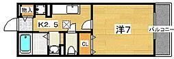 シェルブルー[2階]の間取り