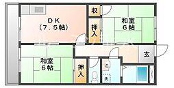 五色山関西マンション[2階]の間取り