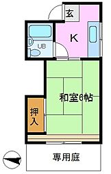 司コーポ[1階]の間取り
