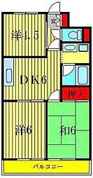 柴又第2STマンション[2階]の間取り