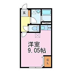 愛知県常滑市新開町1丁目の賃貸アパートの間取り