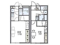 レオパレス桜II[1階]の間取り