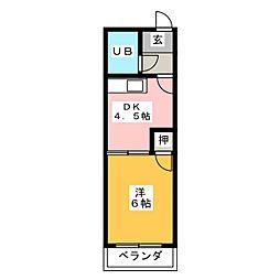 小川ビル[4階]の間取り