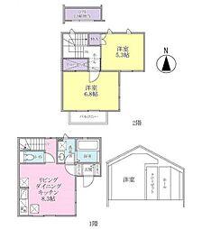 [タウンハウス] 千葉県市川市東菅野1丁目 の賃貸【/】の間取り