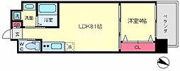 FDS AZUR(エフディーエス アズール) 4階1LDKの間取り