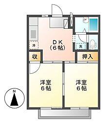 サザンウインドパート2[2階]の間取り