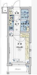 東京都大田区上池台4丁目の賃貸マンションの間取り