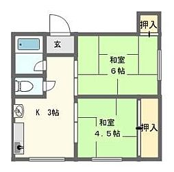 宮崎マンション[4階]の間取り
