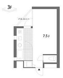 ヒヨシティーエス2[3階]の間取り