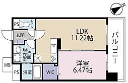 CENTER MARK(センターマーク)三萩野[805号室]の間取り