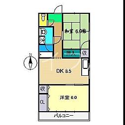 澤村コーポ[1階]の間取り