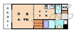 RJR香椎[3階]の間取り
