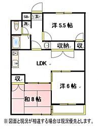 ファインクロス6番館[4階]の間取り