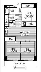 ビレッジハウス栃木日ノ出タワー1号棟[12階]の間取り