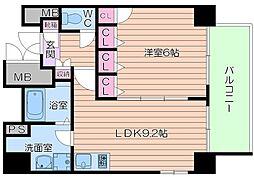 レジェンドール大阪天満 G-レジデンス[9階]の間取り
