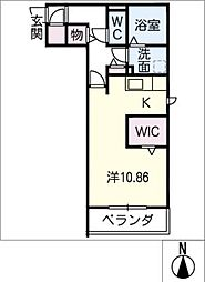 Coto・gran 2階ワンルームの間取り