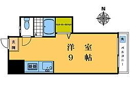 マンション華山[2-D号室]の間取り