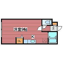 キャッスル福住96[4階]の間取り