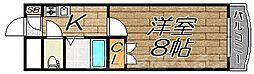 リファレンス片野[5階]の間取り