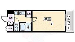 花屋敷マンション 1階1Kの間取り