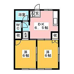 タカセハイツ[1階]の間取り