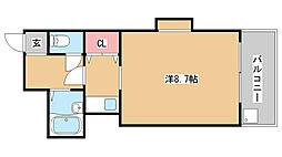 兵庫県神戸市須磨区車字獅々堀の賃貸アパートの間取り