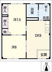 R・ハウス仏生寺[1階]の間取り