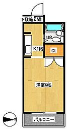 OKマンション[1階]の間取り