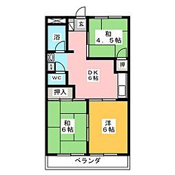 茶屋ヶ坂ビル[3階]の間取り