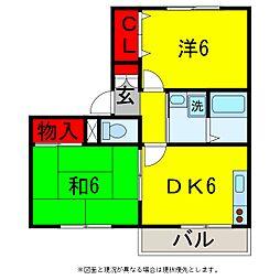 ボナールB[2階]の間取り