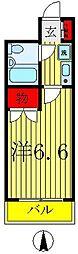 ジョイフル五香[4階]の間取り