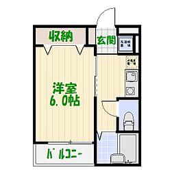 東京都葛飾区亀有4丁目の賃貸アパートの間取り
