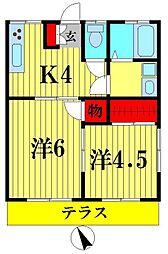 吉田荘[1階]の間取り