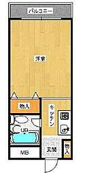 フォレスト大蔵[2階]の間取り