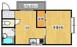 ロジュマン天下茶屋[3階]の間取り