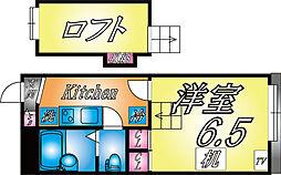 兵庫県神戸市灘区赤坂通4丁目の賃貸アパートの間取り