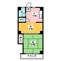 立町第三ビル[4階]の間取り