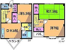 [テラスハウス] 東京都調布市多摩川3丁目 の賃貸【東京都 / 調布市】の間取り