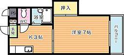 ギャラン千代ヶ崎[1階]の間取り