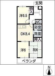 マリンハイツ藤[2階]の間取り