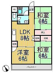 飯島第一ビル[303号室]の間取り