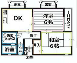 みずほ台グランドールマンション[2階]の間取り