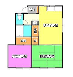 水沢ハウス[1階]の間取り