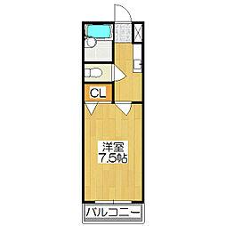 たんぽぽの家[205号室]の間取り