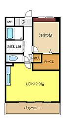 愛知県名古屋市北区若鶴町の賃貸マンションの間取り