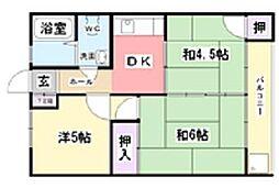 コーポナカムラ[2階]の間取り